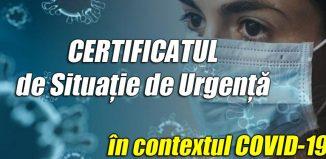 certificatul de situatie de urgenta